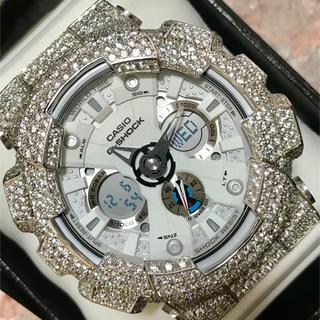 ジーショック(G-SHOCK)のGショックカスタム シルバー925パーツ 新品レベルに美品(腕時計(デジタル))