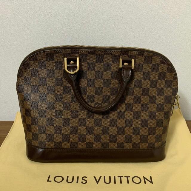 LOUIS VUITTON - 確実正規品 ルイビィトン ダミエアルマ 美品の通販 by ナニス's shop|ルイヴィトンならラクマ