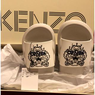 ケンゾー(KENZO)の値下げしました!KENZOサンダル白新品未使用です!(サンダル)