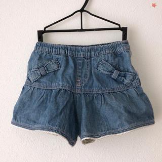 サンカンシオン(3can4on)の子ども 女の子 キュロット ショートパンツ 110 リボンポケット(スカート)