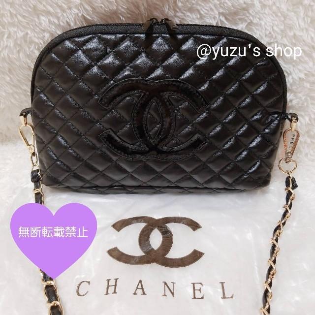 CHANEL - ♡CHANEL ノベルティ キルティング ショルダーバッグ 黒♡の通販 by yuzu's shop|シャネルならラクマ