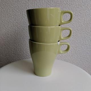 イケア(IKEA)の新品 IKEA マグカップ 3つセット 未使用 イケア コーヒーカップ(グラス/カップ)