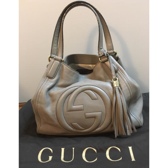 Gucci - GUCCI    SOHO グッチ ソーホー ショルダーバッグ グレージュの通販 by ibukino663's shop|グッチならラクマ