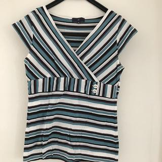 ヨンドシー(4℃)のボーダーTシャツ(Tシャツ(半袖/袖なし))