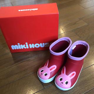 ミキハウス(mikihouse)の新品ミキハウス長靴13センチ mikihouse 女の子レインブーツ(長靴/レインシューズ)