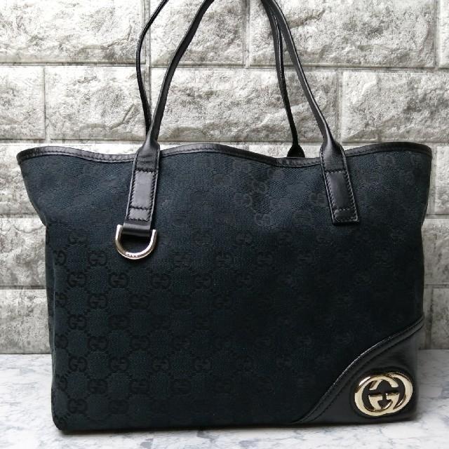 Gucci - ★値下げ!★グッチ GGキャンバス トートバッグ ブラックの通販 by ブランド's shop|グッチならラクマ