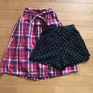 ジーユー(GU)の♡GU♡スカート・ショーパン♡2点セット♡(スカート)