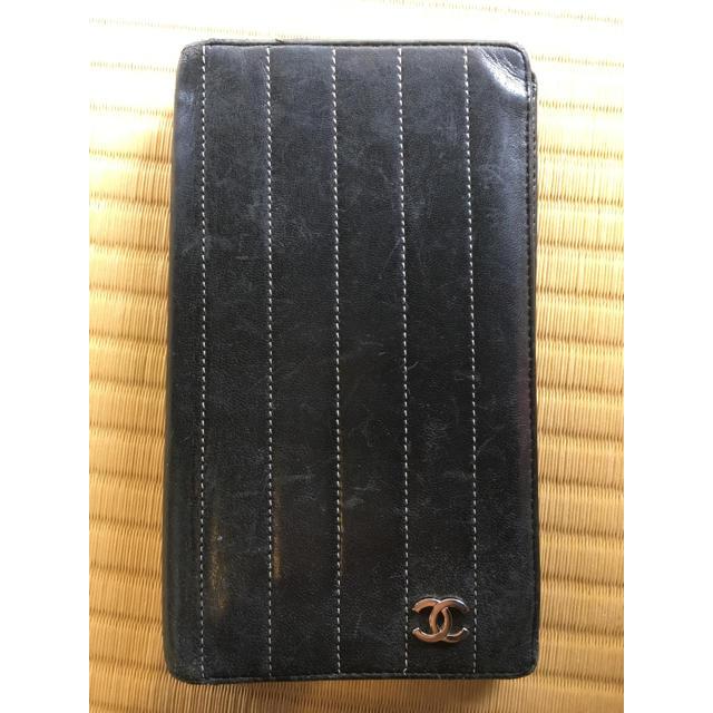 CHANEL - CHANEL 長財布 レザー ストライプの通販 by AOY@G's shop|シャネルならラクマ