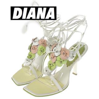 ダイアナ(DIANA)のダイアナ DIANA パンプス ハイヒール 花 21.5 ピンヒール ホワイト(ハイヒール/パンプス)