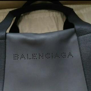 バレンシアガ(Balenciaga)のバレンシアガ パンチング ロゴ レザー ボストン トートバッグ(トートバッグ)