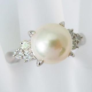 Pt900 アコヤ真珠 パール ダイヤモンド リング (リング(指輪))