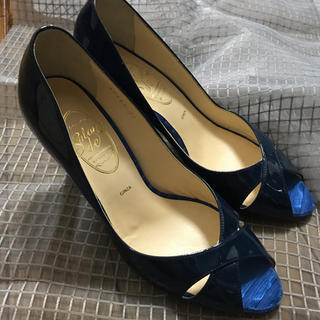 ギンザワシントン(銀座ワシントン)の銀座ワシントン靴23センチネイビーブルー(ハイヒール/パンプス)