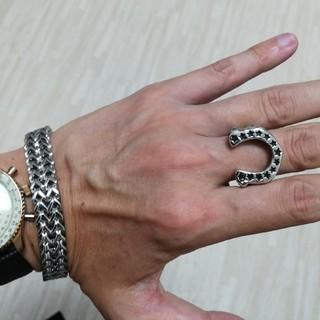 【べ~さん専用】海外製ホースリング&ブレスレット(シルバーカラー)セットです。(リング(指輪))