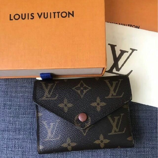 LOUIS VUITTON - LV モノグラム 3つ折り財布 ブラウン×ゴールド金具 大人気の通販 by マヤ's shop|ルイヴィトンならラクマ