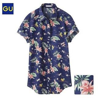 ジーユー(GU)のロールアップ アロハシャツ (シャツ/ブラウス(半袖/袖なし))