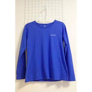 モンベル(mont bell)のモンベルWIC.スリムT ワンポイントロゴ(Women)Mサイズ ブルー 中古品(Tシャツ(長袖/七分))