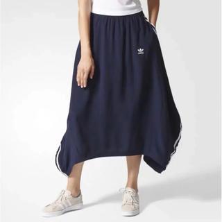 アディダス(adidas)のアディダス スリーストライプ スカート(ロングスカート)