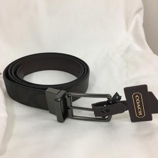 コーチ(COACH)の新品未使用 COACH(コーチ)メンズ レザー×PVC リバーシブル ベルト(ベルト)