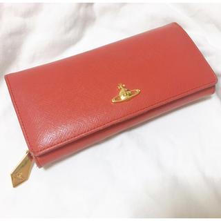 ヴィヴィアンウエストウッド(Vivienne Westwood)のVivienne Westwood 長財布 二つ折り 赤 レッド(財布)