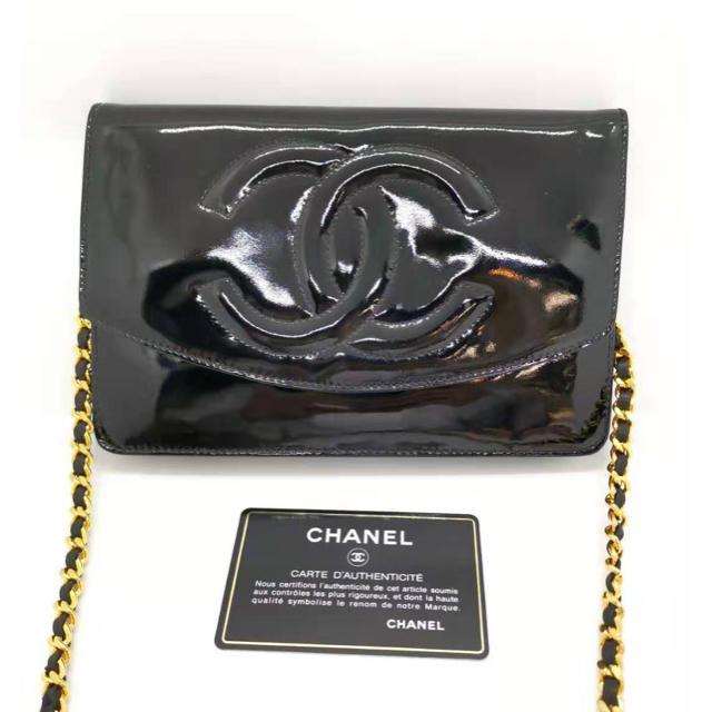 CHANEL - CHANEL シャネル チェーンウォレット ブラック バッグ の通販 by MAU|シャネルならラクマ