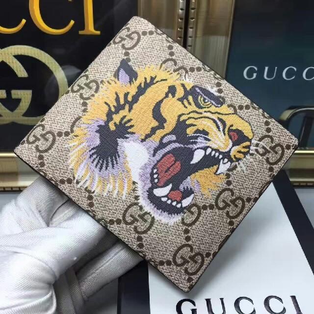 Gucci - Gucciグッチ 大人気  2つ折り財布 メンズ の通販 by ニシモト's shop|グッチならラクマ