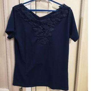 シマムラ(しまむら)のTシャツ ネイビー 紺 Mサイズ(Tシャツ(半袖/袖なし))