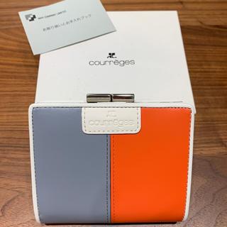 クレージュ(Courreges)のcourreges クレージュ 折りたたみ財布 がま口 バイカラー 値下げ(財布)