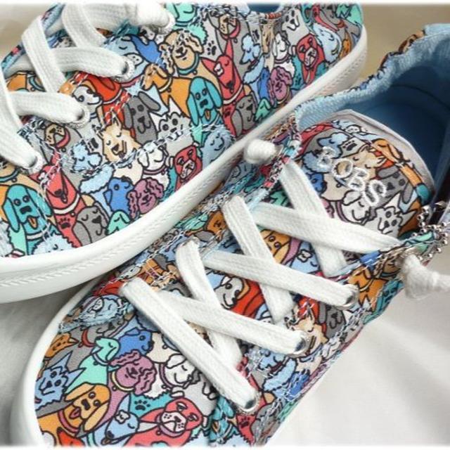 SKECHERS(スケッチャーズ)の新品24cm★スケッチャーズ BOBS Beach Bingo Woof犬いぬ レディースの靴/シューズ(スリッポン/モカシン)の商品写真