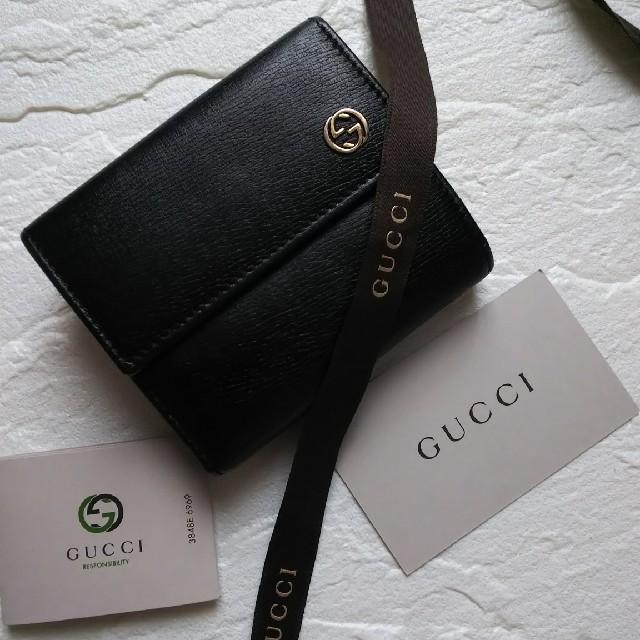 Gucci - 美品】GUCCIグッチ 2つ折り財布の通販 by giジョ-'s shop|グッチならラクマ