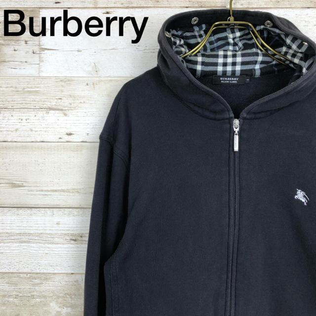 BURBERRY BLACK LABEL(バーバリーブラックレーベル)のBurberry(バーバリー) パーカー 3 チェック 黒 メンズのトップス(パーカー)の商品写真