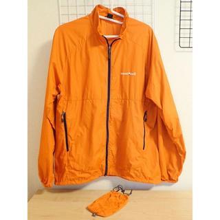 モンベル(mont bell)のモンベル ウインドブラストジャケット(メンズ)Mサイズ オレンジ 中古品(マウンテンパーカー)