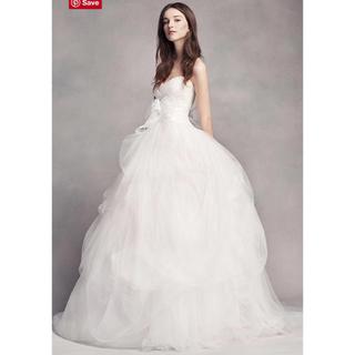 ヴェラウォン(Vera Wang)の【値下げ】White by Verawang/チュールドレス【US0】(ウェディングドレス)