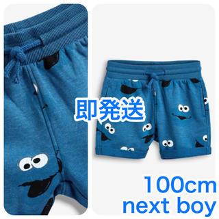 セサミストリート(SESAME STREET)の【新品】ブルー Cookie Monster 総柄ショートパンツ 100cm(パンツ/スパッツ)