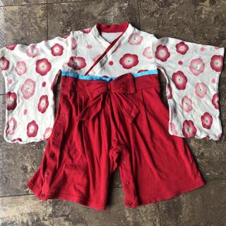 ベルメゾン(ベルメゾン)の袴ロンパース 女の子 90cm(和服/着物)