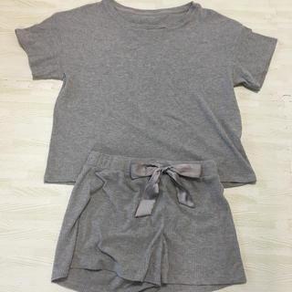 ジーユー(GU)のレディース GU 部屋着 パジャマ Lサイズ グレー(パジャマ)