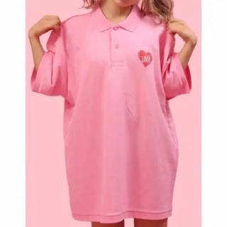 ウィゴー(WEGO)のWEGO WC ビッグポロシャツ ピンク(ポロシャツ)