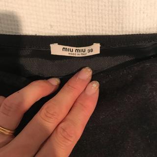 ミュウミュウ(miumiu)のミュウミュウ スカート(ひざ丈スカート)