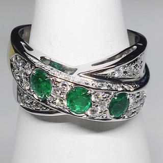 値下げ‼️K18WG エメ ダイヤ リング 指輪 お洒落 女子 メンズ 綺麗 美(リング(指輪))
