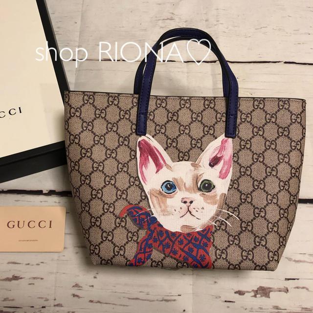 Gucci - 新品 GUCCI グッチ グッチチルドレン トート バッグ 猫 ノベルティの通販 by RIONA♡ part3's shop|グッチならラクマ