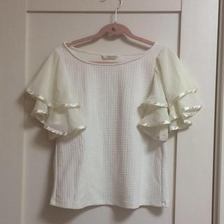 ミスティウーマン(mysty woman)のフリルトップス(Tシャツ(半袖/袖なし))