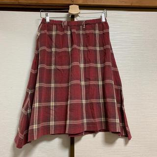 ツモリチサト(TSUMORI CHISATO)のTSUMORI CHISATO フレア ギャザー チェックスカート(ひざ丈スカート)