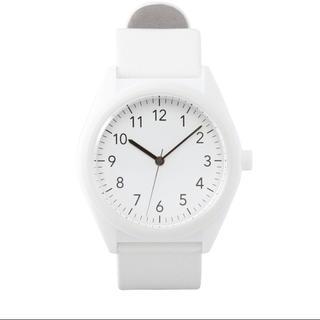 ムジルシリョウヒン(MUJI (無印良品))の無印良品 ソーラーウォッチ 腕時計 白色 本革(腕時計)