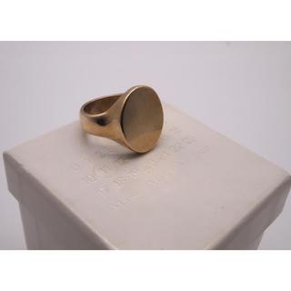 マルタンマルジェラ(Maison Martin Margiela)のマルタンマルジェラ ゴールドオーバルリング 指輪(リング(指輪))