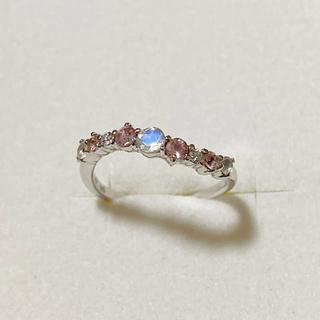 ピンクグラデーション×ダイヤモンドリング(リング(指輪))