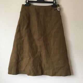 ミナペルホネン(mina perhonen)のサリースコット★定番の麻スカート(ひざ丈スカート)