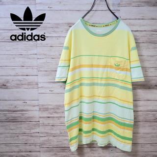 アディダス(adidas)のAdidas Originals ワンポイントロゴ ボーダーポケT(Tシャツ/カットソー(半袖/袖なし))