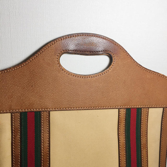 Gucci - 確認用 正規品 グッチ ウェブ ハンドバッグ トートバッグ オールドグッチの通販 by archi88's shop|グッチならラクマ
