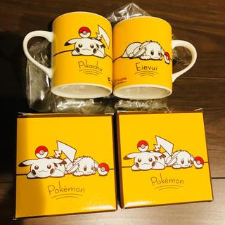 ポケモン(ポケモン)の非売品 ポケモン ピカチュウ イーブイ マグカップ コップ コーヒーカップ(グラス/カップ)