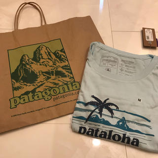 パタゴニア(patagonia)の17 パタロハ Tシャツ Haleiwa限定 レディース 【M】水色(Tシャツ(半袖/袖なし))