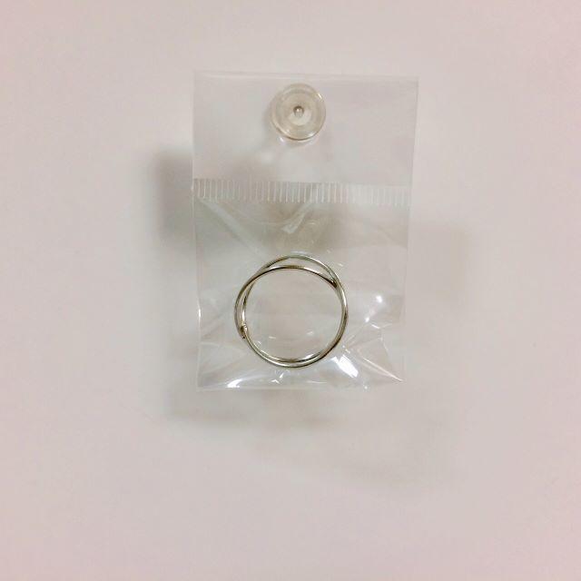 シンプルクロスリング レディース リング  シルバー レディースのアクセサリー(リング(指輪))の商品写真